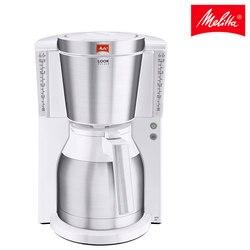 Cafetera goteo Melitta wygląd IV Therm Deluxe 1011-13  jarra termo para 15 tazas  apagado automatico  blanco y acero inoxidable