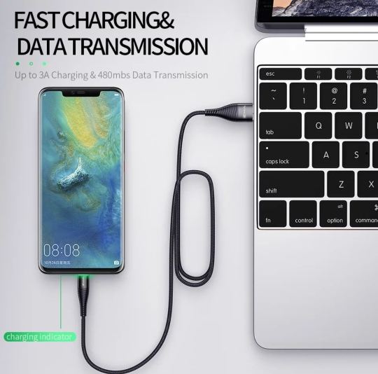 YKZ 3A LED Micro USB Cable Fast Charging Microusb Charger Date Cable Wire For Samsung Huawei Xiaomi Cord Android Mobile Phone|Mobile Phone Cables|   - AliExpress