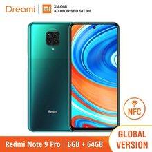 Versão global xiaomi redmi note 9 pro 6gb ram 64gb rom (novo/selado) redminote9pro, note9pro, smartphone móvel
