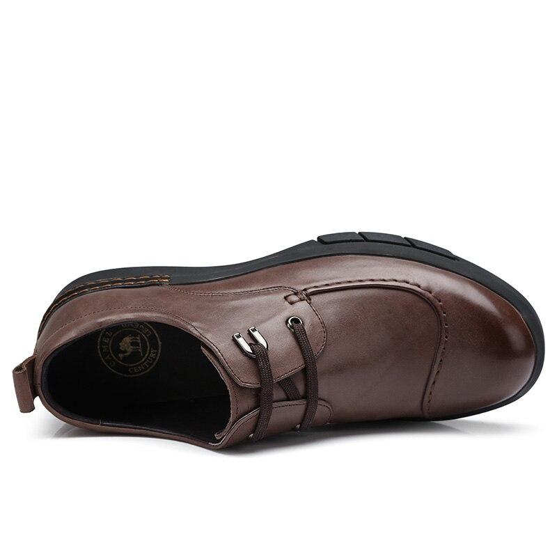 CAMEL/Мужская обувь; сезон осень; удобная мужская повседневная обувь из натуральной кожи; британский джентльмен; восковая воловья кожа; элегантные лоферы - 3