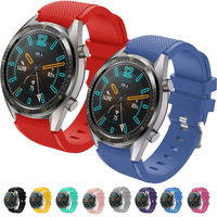 Correas pulsera de recambio para Huawei Watch GT 2 / Honor Magic Watch 2, 42 y 46mm silicona flexible de colores cierre de metal