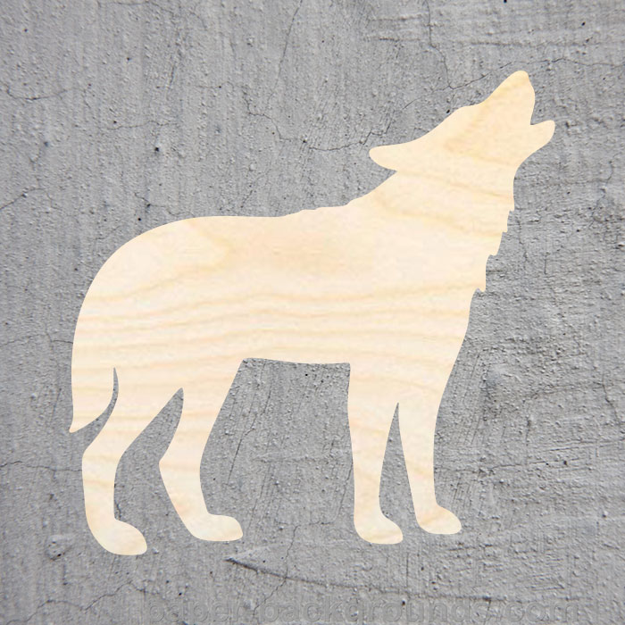 Howling Wolf  Silhouette Laser Cut Out Wood Shape Craft Supply Unfinished Cut Art Projects Craft Decoration Gift Decoupage Ornam