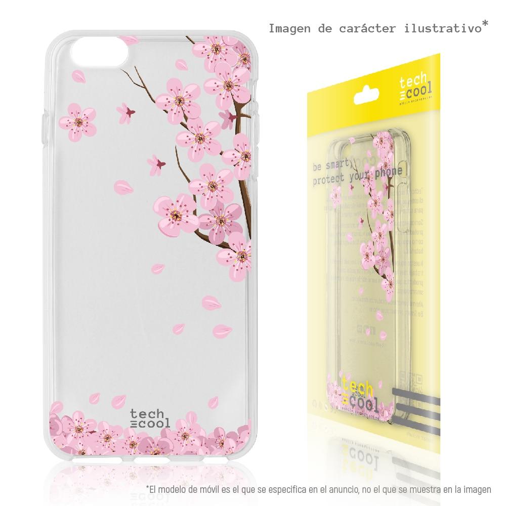 FunnyTech® Funda Silicona para Huawei P30 Pro l Arboles flores transparente vers.2