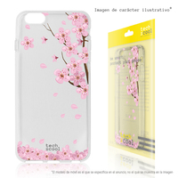 FunnyTech®Silicone Case for Huawei Y6 II Compact trees transparent flowers vers.2