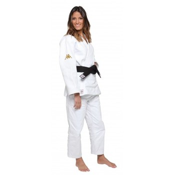 Judogi IJF Kappa Atlanta blanco slim fit