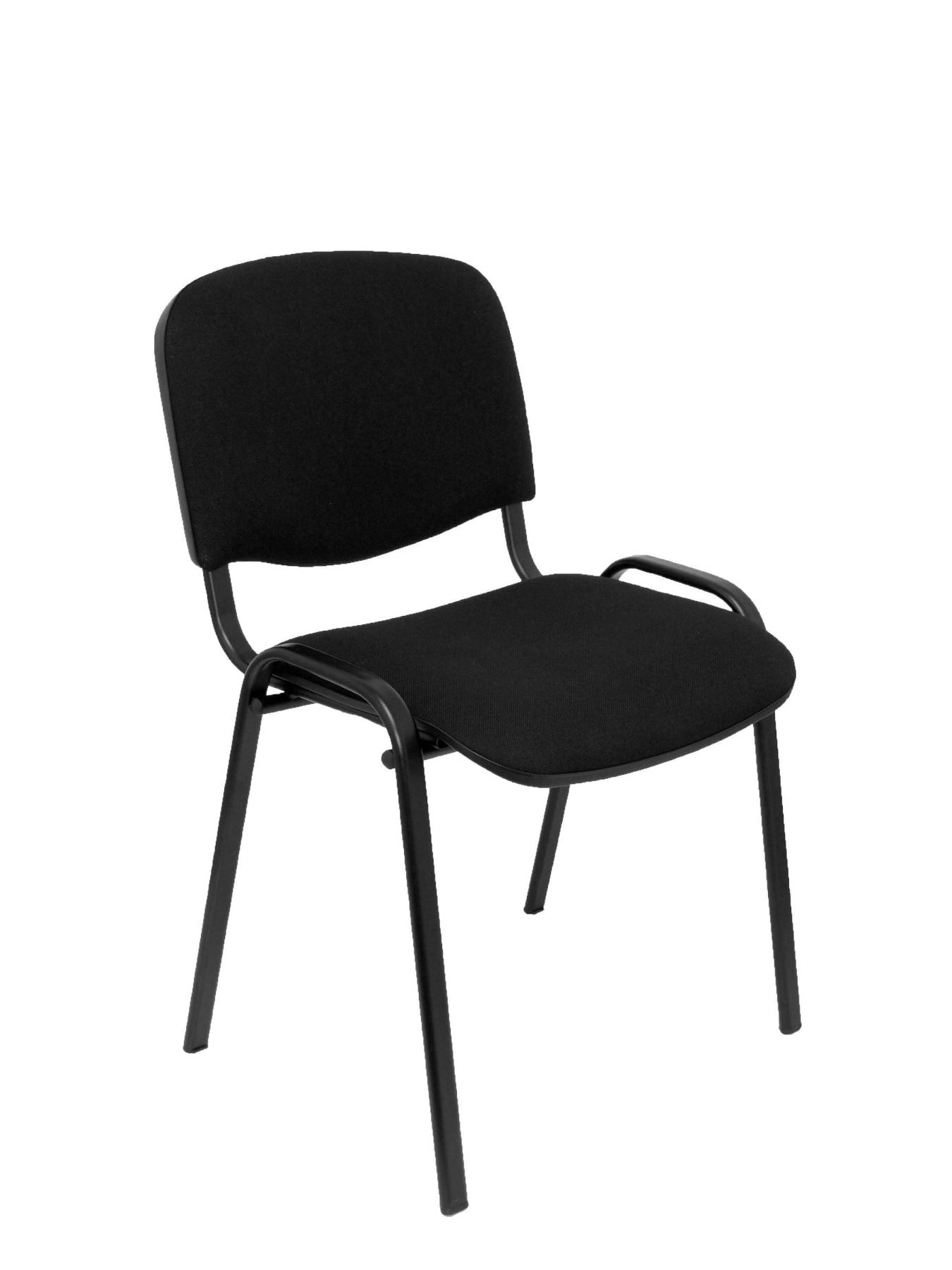 Confident Chair Ergonomic Multi-purpose And Structure In Black Color Seat And Back Upholstered In Fabric ARAN Color N