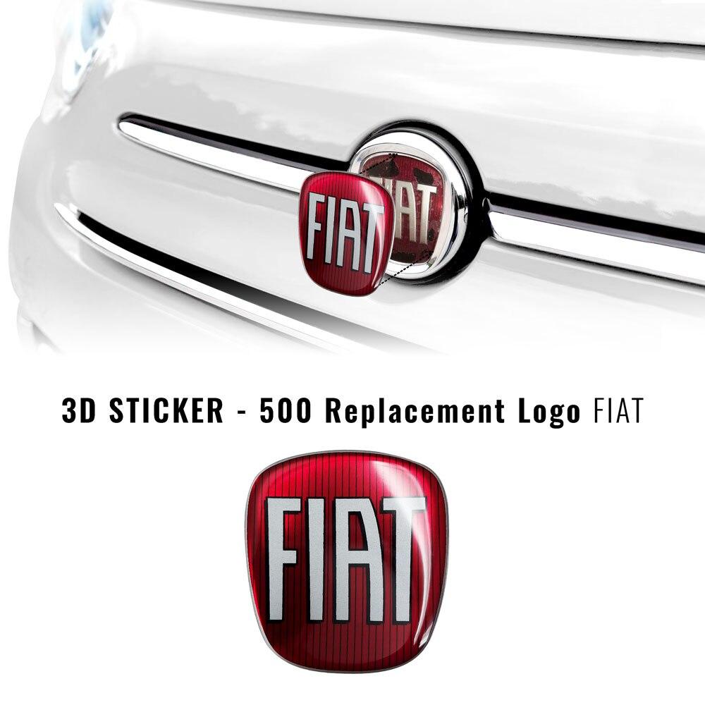 3D Фиат стикер Логотип фильтра для 500