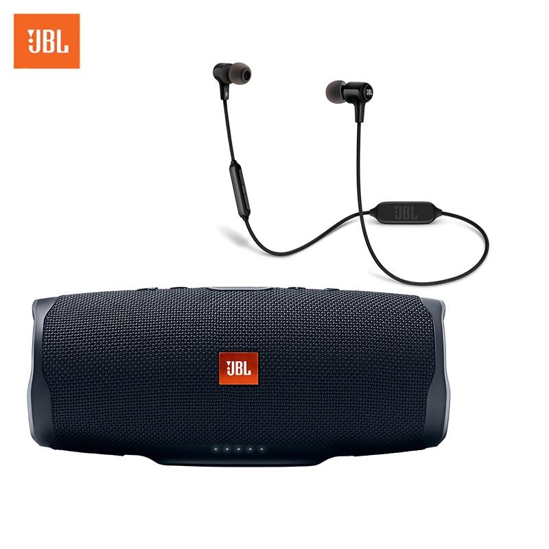 Wireless Speaker JBL Charge 4 + Earphones JBL E25BT цена и фото