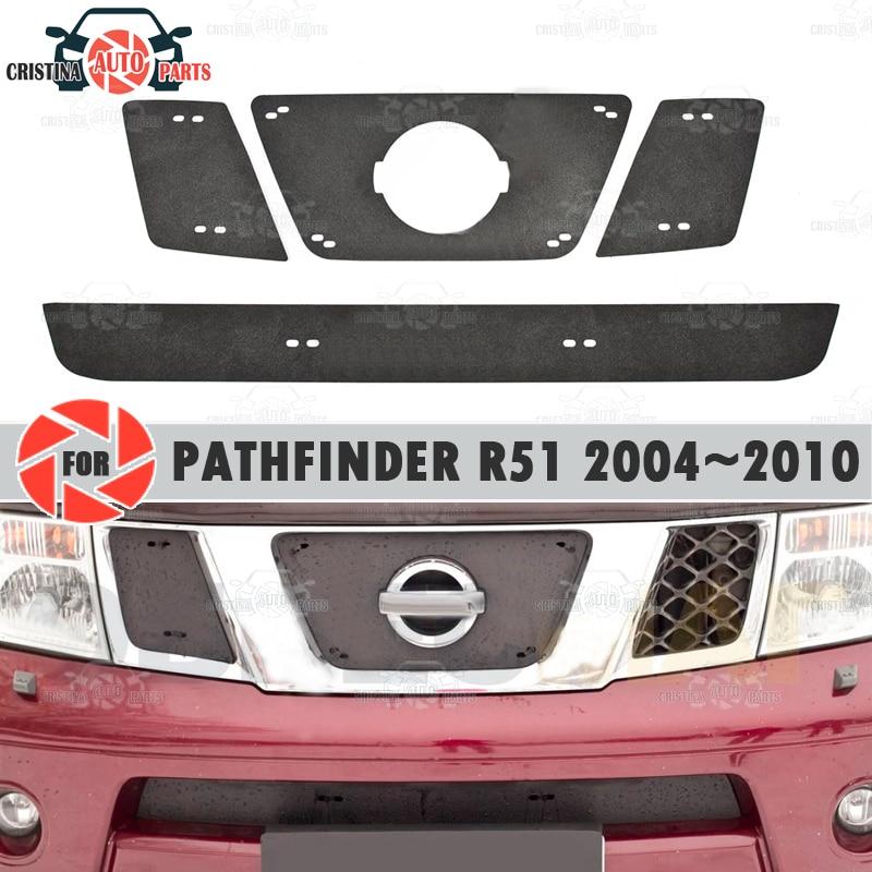 Winter Radiator Cap Voor Nissan Pathfinder R51 2004 ~ 2010 Plastic Abs Reliëf Cover Voorbumper Auto Styling Accessoires Decor