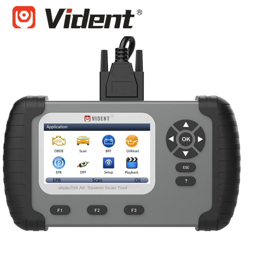 VIDENT IAuto708 All System Professinal Diagnostic Scan Tool With Oil Light  Service / EPB / BRT/ DPF