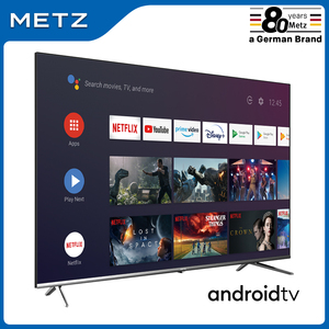 Television 32INCH SMART TV METZ 32MTB7000 ANDROID TV 9.0 Frameless Google Assistant VOICE REMOTE CONTROL 2-Year Warranty