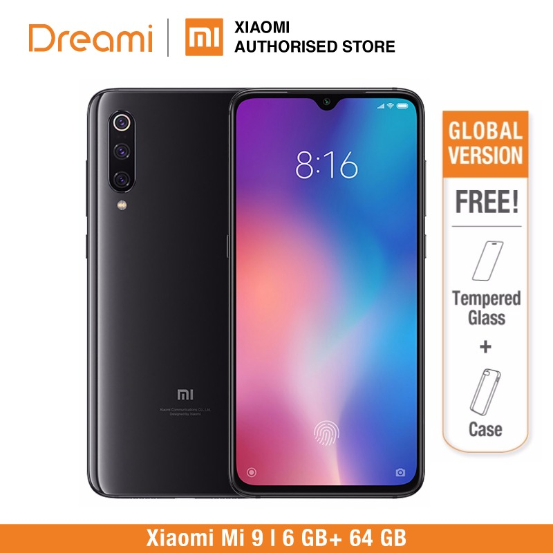 Global Version Xiaomi Mi 9 64GB ROM 6GB RAM (Brand New And Sealed) Mi9 READY STOCK