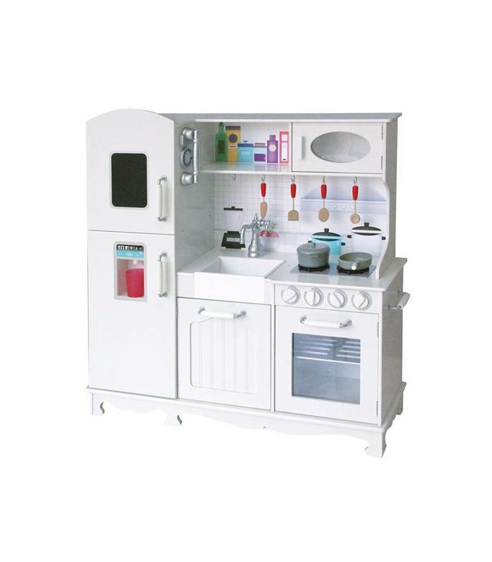 Kitchen In Wood With Refrigerator Toy Store
