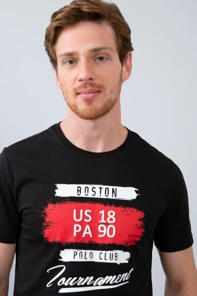 U.S. POLO ASSN. Black Crew Neck Slim T-Shirt