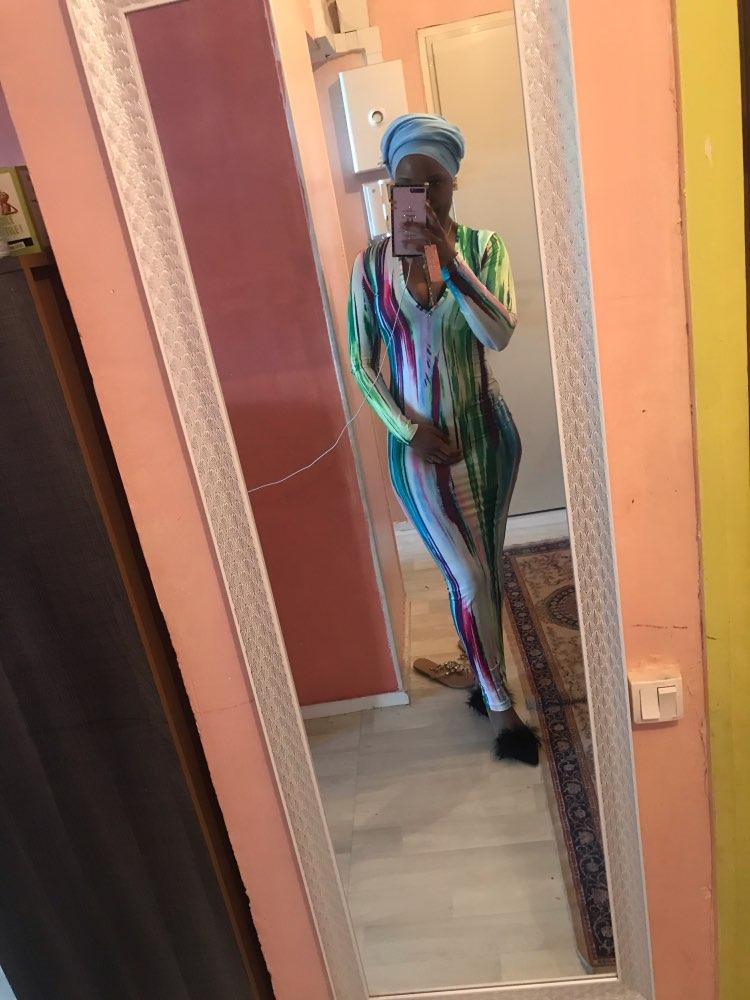 Simenual Printed V Neck Sexy Women Party Dress Long Sleeve Fashion 2020 Spring Skinny Bodycon Clubwear Hot Slim Maxi Dresses New reviews №1 184742