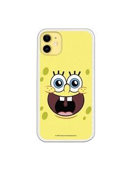 Funda para iPhone 11 Oficial de Nickelodeon Bob Alegre - Bob Esponja