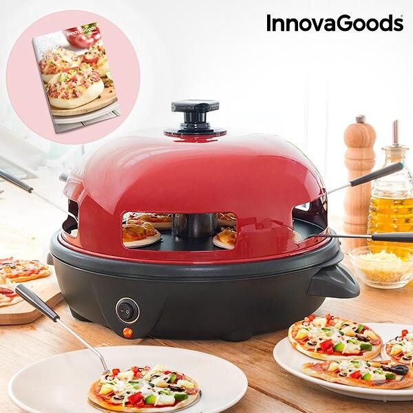 Inovagoods mini forno de pizza com fogão presto 700 w de aço inoxidável moderno e funcional inclui 5 espátulas de aço inoxidável