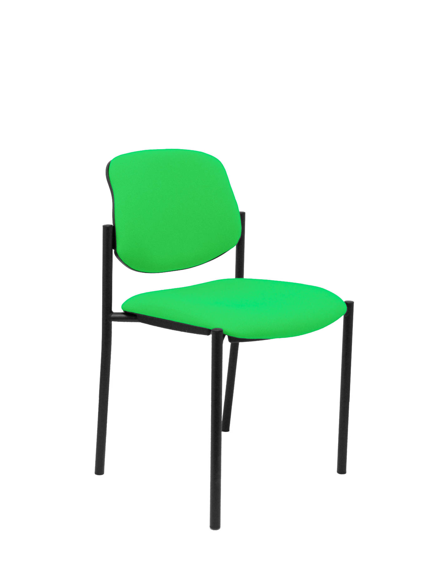 Visitor Chair 4's Topsy And Estructrua Negro-up Seat And Backstop Upholstered In BALI Tissue Color Pistachio TAPHOLE AND C