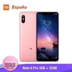 [Globalna wersja dla hiszpanii] Xiaomi Redmi uwaga 6 Pro (Memoria interna de 32 GB, RAM de 3 GB, bateria 4000, Cuatro camaras con IA) 3