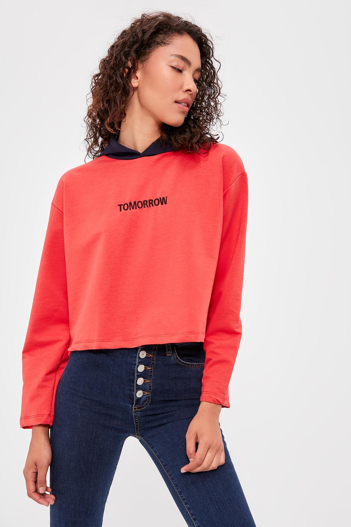 Trendyol Hooded Knitted Sweatshirt TWOAW20SW0154