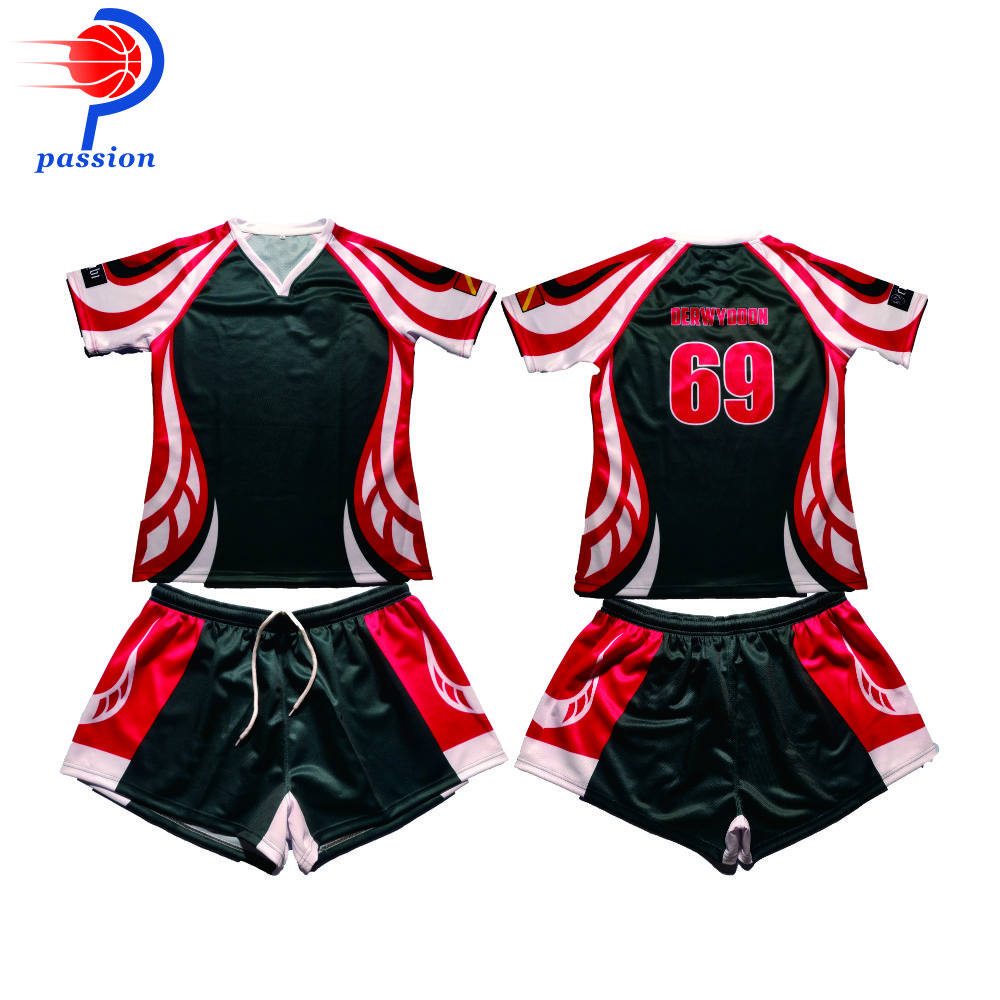 Custom Team Set Mens Rugby League Jersey and Short