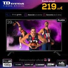 Televisores 39,5 Pulgadas TD Systems K40DLJ12F, 2x HDMI, USB Grabador reproductor, DVB-T2/C/S2 [Envío desde España]