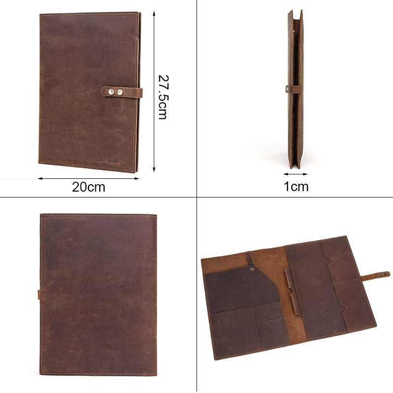 Image 2 - Premium Nubuck Leather Sleeve Pouch bag For New iPad Pro 10.2  inch 2020 Retina folio case with Apple Pencil Holder phone  pocketTablets