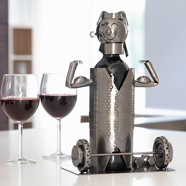 Weightlifter Metal Bottle Holder