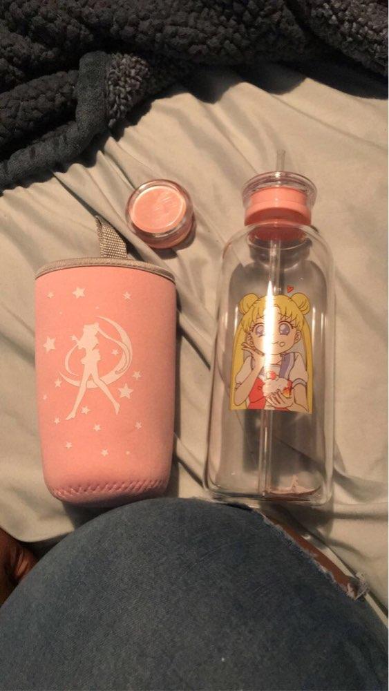 Cartoon Bottle Transparent Glass Water Bottle Student Camping Bottle with Portable Leak proof Fruit Lemon Juice Drinking Bottle Water Bottles     - AliExpress