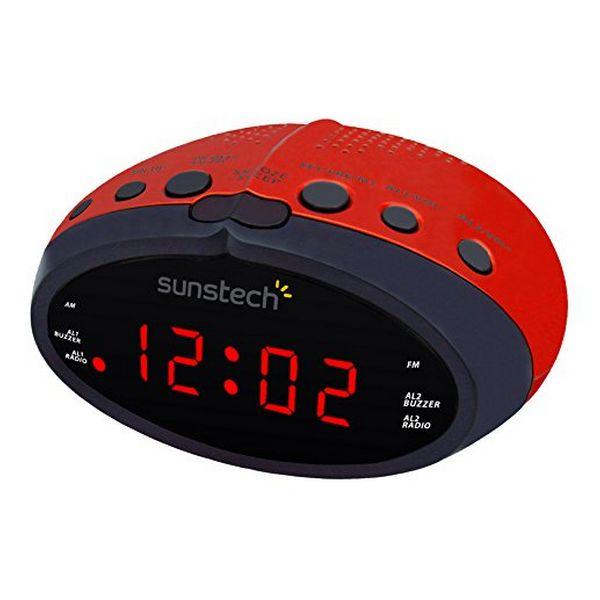 Часы-радио Sunstech FRD16RD красный