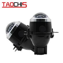Taochis 車スタイリング M6 2.5 インチバイキセノン hid オートフォグライトプロジェクターレンズ hi/lo ユニバーサルフォグランプ車レトロフィット H11 電球