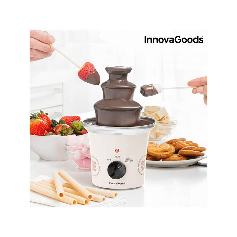 Chocolate Fountain Sweet & Pop Times InnovaGoods 70W White Steel