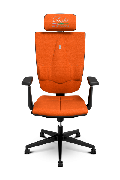 Office Chair KULIK SYSTEM SPACE Orange Computer Chair Relief And Comfort For The Back 5 Zones Control Spine