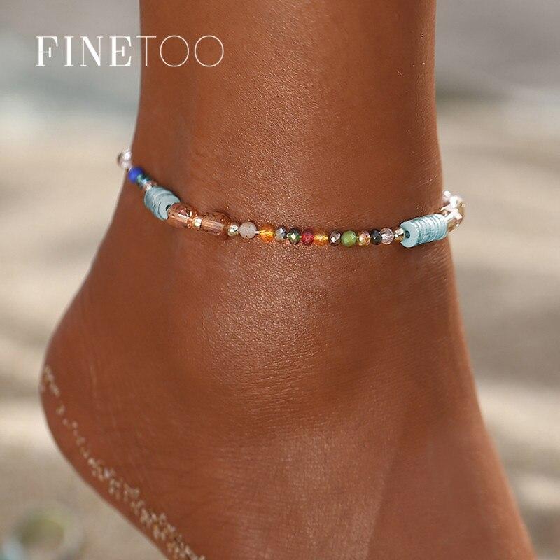 Bohemian Multi Colorful Beaded Summer Beach Anklets For Woman Handmade Beads Shell Ankle Bracelet Leg Foot Bracelet Jewelry