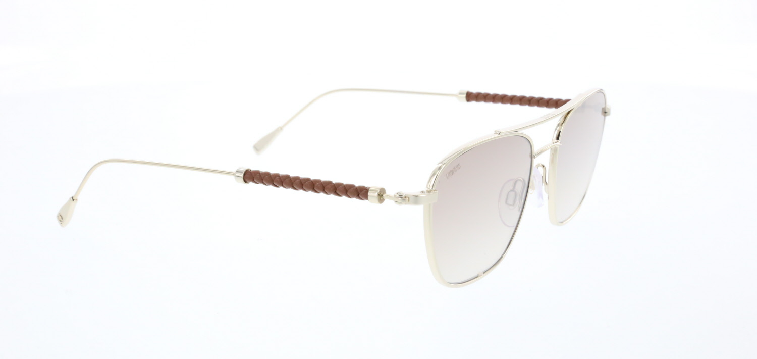 Unisex sunglasses to 0227 33g metal gold organic square square 53-17-145 tods