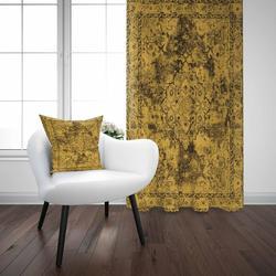 Mais Amarelo Preto Antigo Turco Otomano 3D Impressão Do Vintage Sala de estar Quarto Cortina Painel Da Janela Combinar Presente Fronha