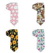 8cm Fashion Ties for Men 3D Printed Skinny Tie Mens Party Neckties Wedding Casual Shirt Accessories Neckwear For Man Gravatas
