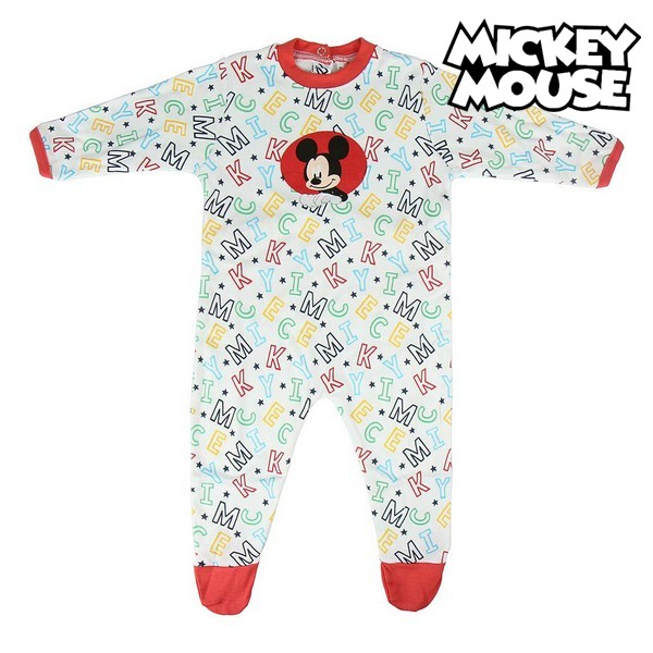 Baby's Long sleeved Romper Suit Mickey Mouse White|  - title=