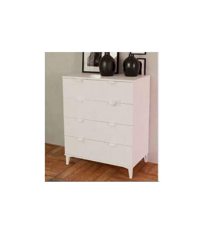 Comfortable 4 Drawers White