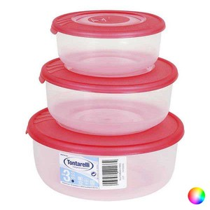 Set of 3 lunch boxes Tontarelli (0 5 - 1 - 2 L)