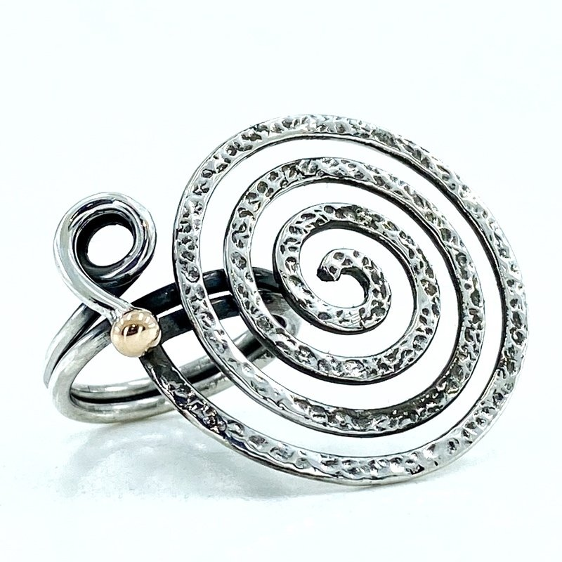 The Production Of Handicrafts, Spiral Custom Design Authentic Sterling Silver Ring
