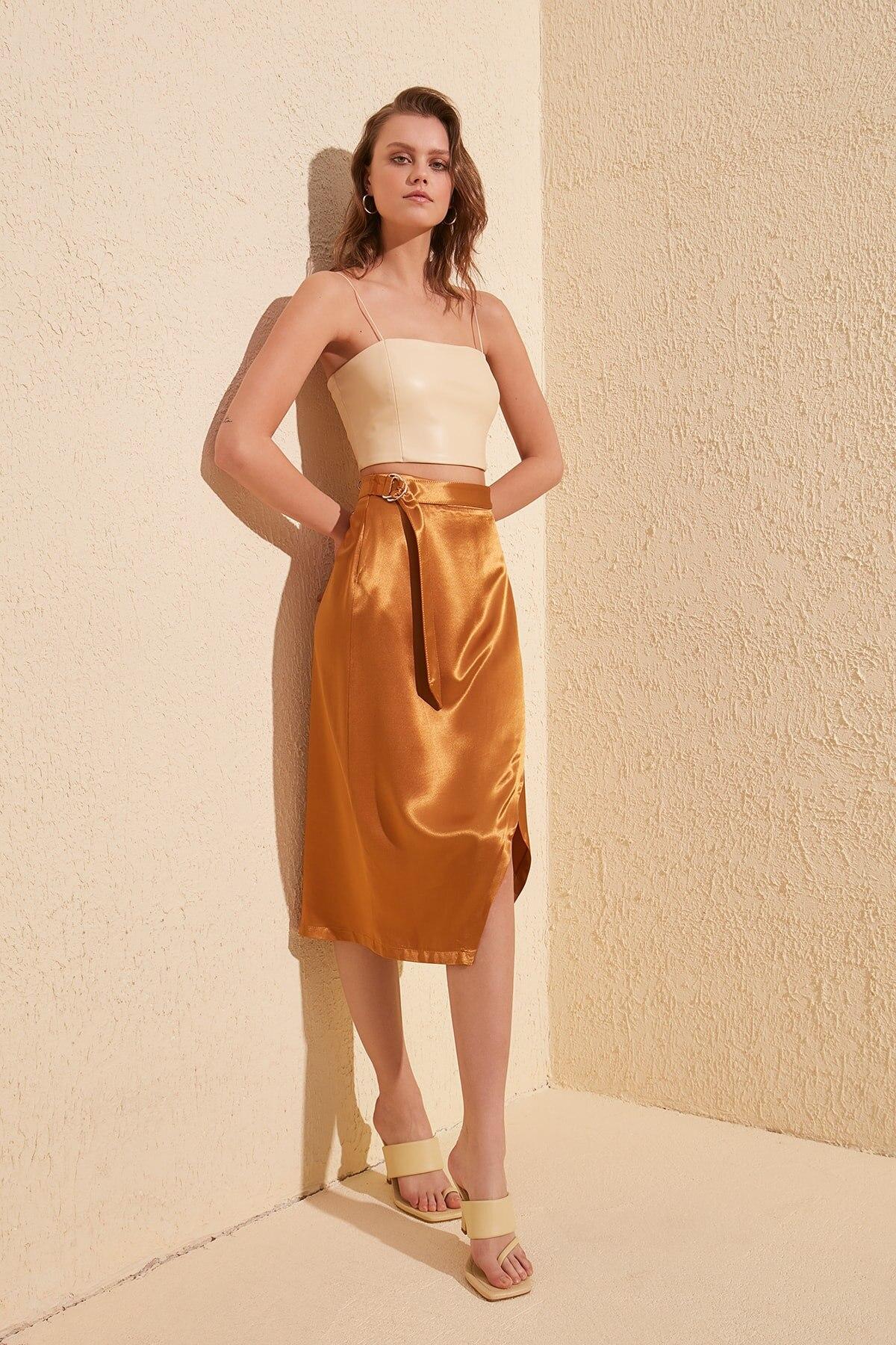 Trendyol Satin Skirt TWOSS20ET0204