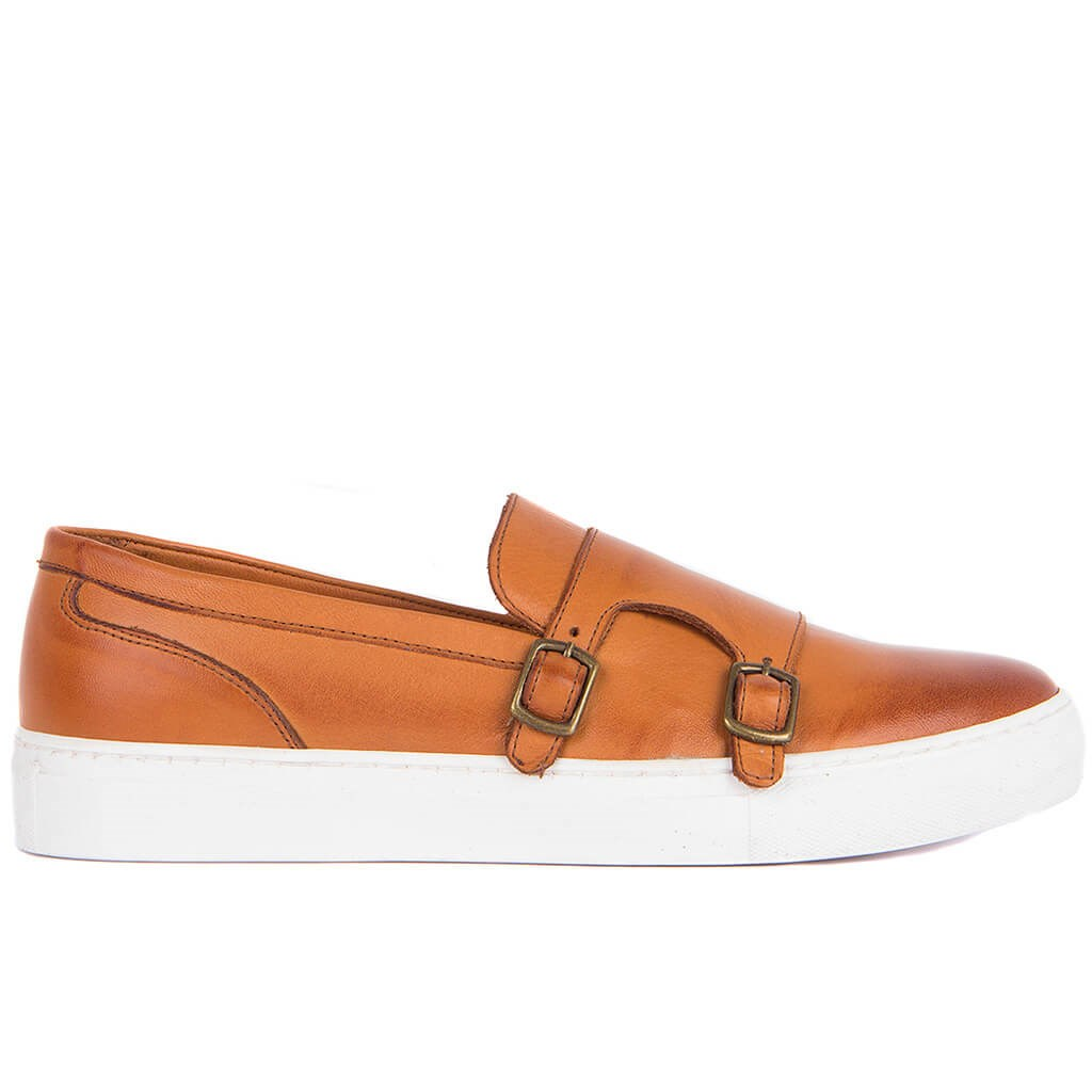 Sail Lakers-Tan Men Casual Genuine Leather Shoes