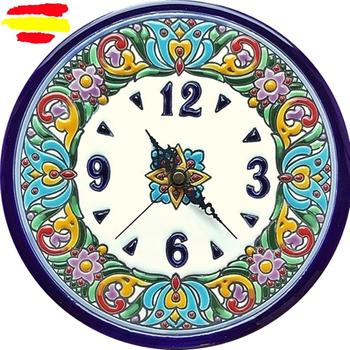 Ceramic clock Spanish High 22 cm./8.66 in. Diameter-Glazed up handmade-MADE IN SPAIN-ARTECER-Home & Decoration-
