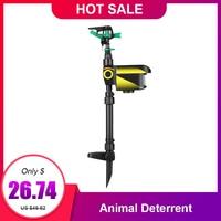 Solar Powered Heat Motion activated Sensor Garden Animal Deterrent sprinkler Garden Sprinkler Scarecrow Rotating Bird Repeller