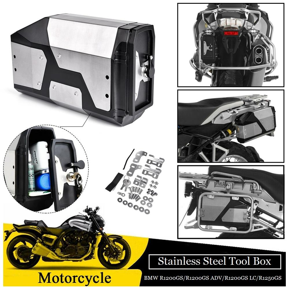 <font><b>Motorcycle</b></font> <font><b>Toolbox</b></font> for BMW R1200GS Tool Box LC ADV Adventure R1250GS F850GS F750GS Rear Side Box Decorative Box 4.2 Liters image