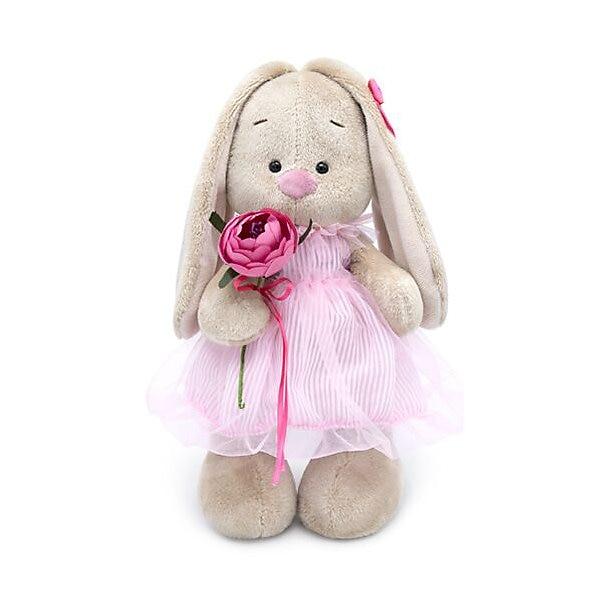 Soft Toy Budi Basa Bunny In Dress-cylinder, 25 Cm