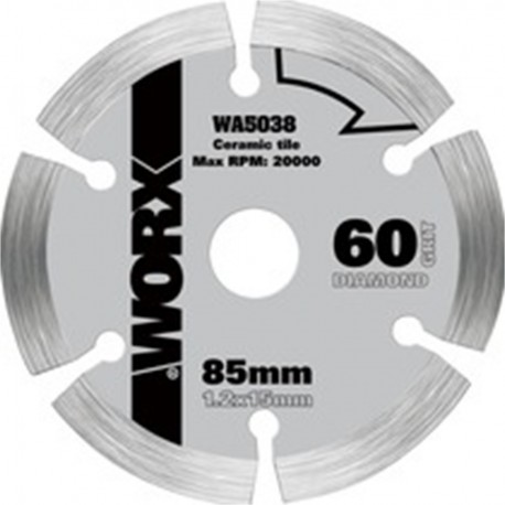 CUTTING DISC DIAMOND 85MM FOR CIRCULAR Saw WORXSAW WORX