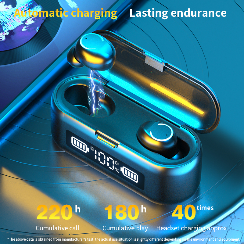 cheapest TWS Wireless Bluetooth Earphone Waterproof Sports Headphone Hifi Stereo Mini Earbuds Noise Canceling Headset for Android IOS PC