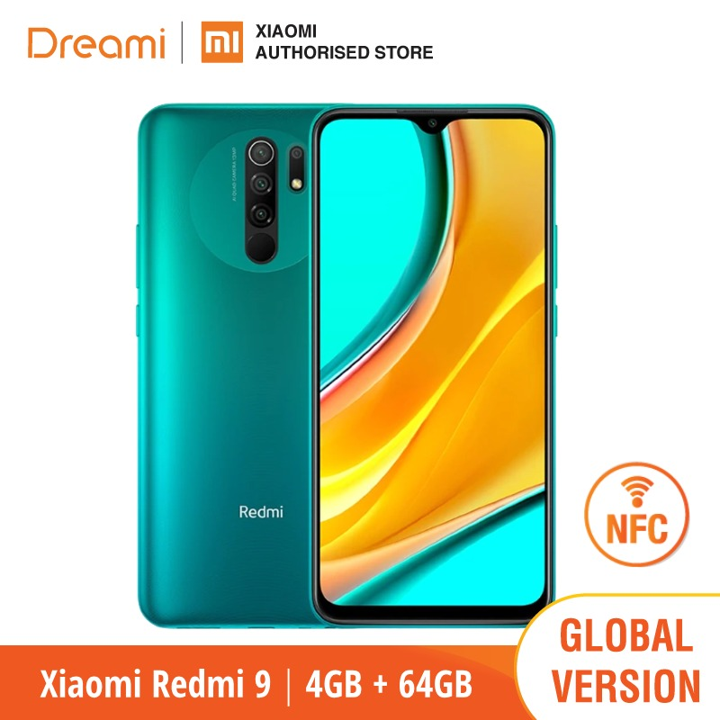Versão global xiaomi redmi 9 64gb rom 4gb ram nfc opção (novo/selado) redmi9, redmi9 64, smartphone, celular, telefone